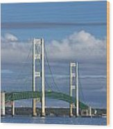 Big Mackinac Bridge 59 Wood Print