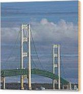 Big Mackinac Bridge 61 Wood Print