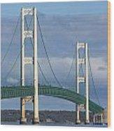 Big Mackinac Bridge 63 Wood Print