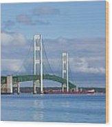 Big Mackinac Bridge 65 Wood Print