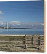 Big Mackinac Bridge 70 Wood Print