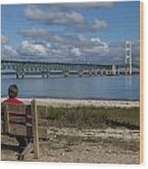 Big Mackinac Bridge 71 Wood Print