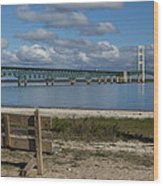 Big Mackinac Bridge 72 Wood Print