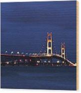 Big Mackinac Bridge 9 Wood Print