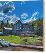 Big Moose Inn - Eagle Bay New York Wood Print