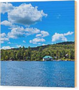 Big Moose Lake In The Adirondacks Wood Print
