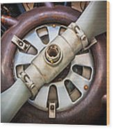 Big Motor Vintage Vintage Aircraft Wood Print