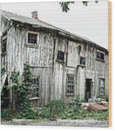 Big Old Barn - Rustic - Agricultural Buildings Wood Print by Gary Heller