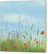 Big Orange Poppies Wood Print by Cecilia Brendel