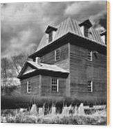 Big Otter Mill Ca 1785 Bw Wood Print