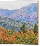 Big Pisgah Mountain In The Fall Wood Print