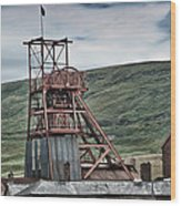 Big Pit Colliery Wood Print
