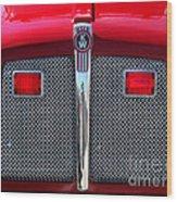 Big Red Fire Truck Wood Print