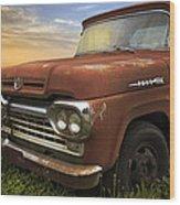 Big Red Ford Wood Print