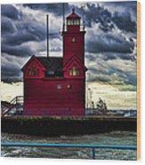 Big Red Holland Michigan Wood Print
