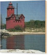 Big Red Holland Michigan Lighthouse Wood Print