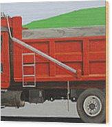 Big Red Truck Wood Print
