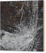 Big Rock Falls Wood Print