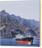 Big Ship Non Atlantic Ocean Wood Print