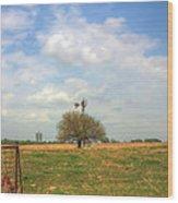 Big Skies Kansas Wood Print