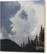 Big Sky Big Weather Wood Print