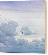 Big Sky Caye Caulker Belize Wood Print