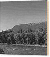 Big Sky Country Montana Bw Wood Print