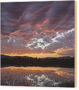 Big Sky Sunrise Wood Print