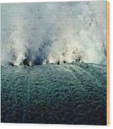 Big Splash Of Mammoth Springs Dam Wood Print