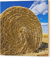 Big Straw Bales Wood Print
