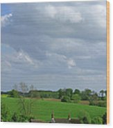 Big Suffolk Sky Wood Print