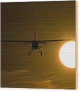 Big Sun Silhouette  Wood Print