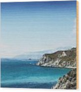 Big Sur Blue Wood Print
