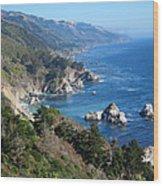 Big Sur Coast Ca Wood Print