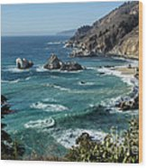 Big Sur Coast From Julia Pfeiffer Burns Wood Print