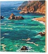 Big Sur Coast Wood Print