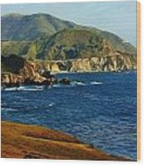 Big Sur Coastline Wood Print by Benjamin Yeager