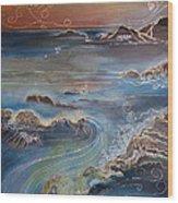 Big Sur In Sunset Wood Print