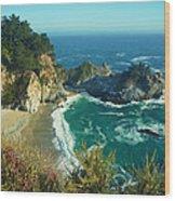 Big Sur Little Cove Wood Print