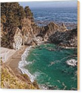 Big Sur - Mcway Falls Wood Print by Glenn McCarthy Art and Photography