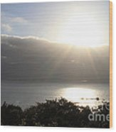 Big Sur Sunset Wood Print by Linda Woods