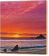 Big Sur Sunset Pfeiffer Beach Wood Print