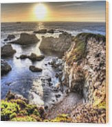 Big Sur Sunset Wood Print by Shawn Everhart