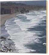 Big Sur Surf Wood Print