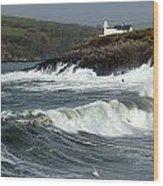 Big Swell In Dingle Bay Wood Print