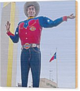 Big Tex And The Cotton Bowl  Wood Print