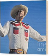 Big Tex - State Fair Of Texas - No. 2 By D. Perry Lawrence Wood Print