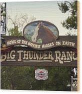 Big Thunder Ranch Signage Frontierland Disneyland Wood Print