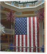 Big Usa Flag 1 Wood Print