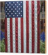 Big Usa Flag 2 Wood Print